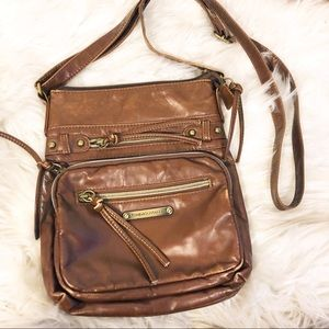 Stone Mountain Brown Faux Leather Crossbody Bag